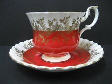 Royal Albert Teacup & Saucer Regal Series RED
