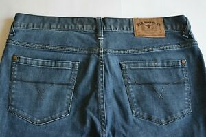 Elwood Mens Jeans Size 34 Blue Classic Fit Button Fly John Rattray 99% Cotton