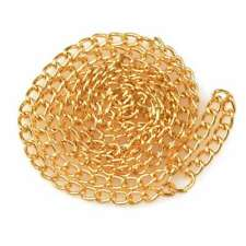 """1pcs 50cm/20"""" Ring Necklace Curb Chain Connector Jewelry Gold 4.5x2.8x0.65mm CA"""