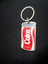 "Coca Cola Key Ring 1985 ""New"" Coke Can Metal Keychain Vintage Key Chain"