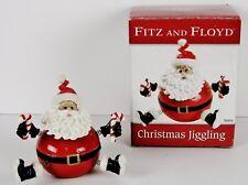 "NIB - ""Fitz and Floyd"" Adorable Jiggling Santa Christmas Decor / Figurine (2005)"