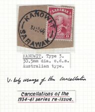 Sarawak 1946 Very Early usage of the KANOWIT Australian cancel