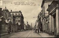 Feldpostkarte 1. WK Feldpost CPA LILLE Rue Royale AK 1914 Feldpost nach Oschatz