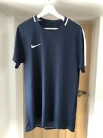 Nike Mens Navy Blue Short Sleeve Sports T Shirt Dri-Fit Size L