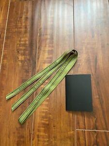 "Authentic GUCCI 45"" Long Green Ribbon + Black Receipt Holder"