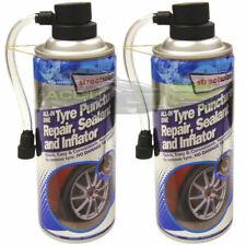 2 x Emergency Car Flat Tyre Fix Puncture Repair Foam Sealant & Inflator Can CHM8