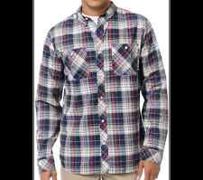 ANALOG Burton BALANCE ATF Skate SNOWBOARD Ride FLANNEL Plaid SHIRT Boy MEN sz XS