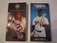 15 TEXAS RANGERS MEDIA GUIDE BOOKLETS - 1984-2003 - SEE DATES - SEE PICS - RRRR