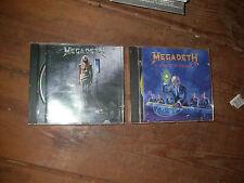 2 X MEGADETH CD ALBUMS .  rock thrash death black metal mosh big 4 dave mustaine