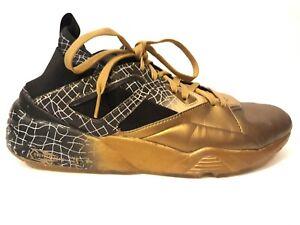PUMA Men's Blaze of Glory Sock Gold Leather Shoes Size 12 Gold Black 36333501
