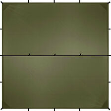 Aqua Quest Defender Tarp - 100% Waterproof - 3 x 3 m (10 x 10 ft) Square - Olive