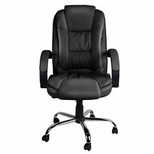 Executive Premium PU Faux Leather Office Computer Chair Black 27
