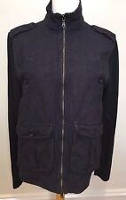 BANANA REPUBLIC Mens Navy Casual Cotton Linen Blend Zip Up Bomber Jacket M
