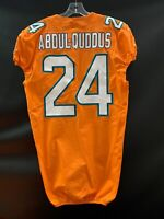 #24 ISA ABDUL-QUDDUS MIAMI DOLPHINS USED TEAM ISSUED ORANGE COLOR RUSH JERSEY