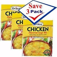 Chicken Soup mix by Grace. 2.12 oz Pack of 3 Free Shipping
