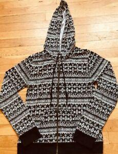 Black & White CHIN UP APPAREL Hoodie JACKET Size Medium