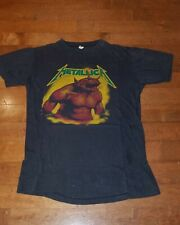 Metallica Vintage original jump in the fire shirt 1984 green logo