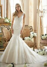 Mori Lee 2878 Size 12 GENUINE Wedding Dress Ivory With tags