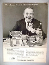 Fisher-Price Toys PRINT AD - 1966 ~~ Milk Carrier & Little Snoopy toy