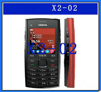 Cheap Nokia X2-02 dual sim FM radio Bluetooth MP3 2MP camera mobile phone