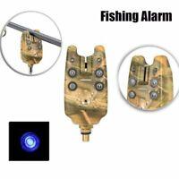 2 LED Light Bite Alarms Fishing Rod Clip Indicator Bell Line Buffer Alert