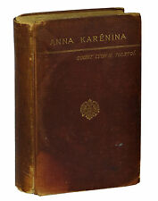 Anna Karenina by LEO TOLSTOY ~ First US Edition 1886 ~ Likely 1st Issue Crowell