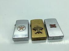 Beautiful Rare lot of-3- vintage Zippo lighters Advertising