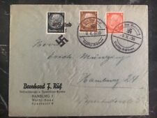 1938 Hamburg Germany Commercial Cover Domestic Used