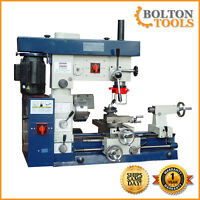 """Bolton Tools 12"""" x 20"""" Metal Lathe Mill Drill Milling Combo Machine AT520"""