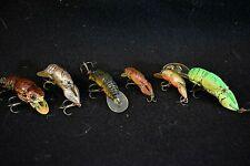 Lot of 6 Assorted Rebel Crawfish Crawdad Crankbait Fishing Lures