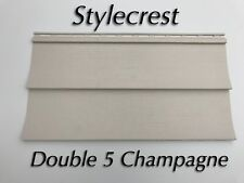 20 Squares Champagne (Tan) Vinyl Siding Nib with accessories