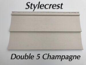 20 Squares Champagne (Tan) Vinyl Siding NIB with accessories