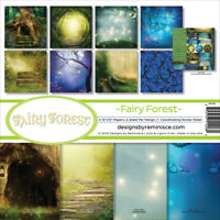 """Reminisce Collection Kit 12""""X12""""-Fairy Forest W/Hollow Tree & Butterflies"""