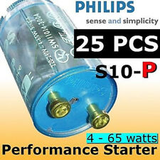 25 pcs Philips Fluorescent Light TLD Tubes QUICK START Starter S10-P 4-65w NEW