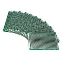 10pcs Double Side 5x7cm PCB Strip board Printed Circuit Prototype Track R1Y2) TN
