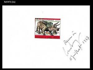 Guinea MNH Prehistoric Animals Dinosaurs Triceratops - Proof on Card Scott 1054