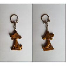 porte-clés Fido, chien or (pc)