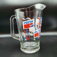 **Pepsi Cola Soda Pop Glass Pitcher 64 oz  Confetti Design Excellent Condition**