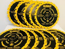 (10 PACK) 7 1/4 NEW Ultra Thin Saw Carbide Circular Saw Blade DeWalt DW3599B10
