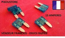 Lot de 5 mini fusibles 15 Amp 15A auto moto automobile voiture 16x11mm 1-4