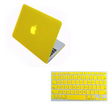 "Hard Case Shell +Rubberized Keyboard Cover for Macbook Pro 13/15"" Air 11/13""inch"