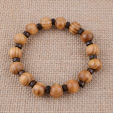 Fashion Men Charm Bracelet Natural Wood Beads Stretch Bangle Jewelry Gift 12mm