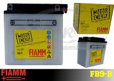 FB9-B BATTERIA MOTO FIAMM MOTOR ENERGY YUASA 12N9-4B-1/YB9-B 9Ah 100A  + LIQUIDO