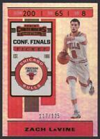 2019-20 Contenders CONFERENCE FINALS Ticket #100 Zach LaVine /125 Chicago Bulls
