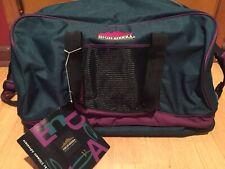 New Vintage 90's High Sierra Duffel Bag Gym Travel Purple Green