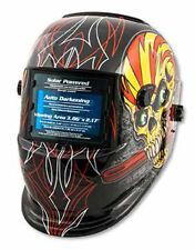 Shop Iron 41283 Skull Flame Solar Powered Auto Dark Welding Helmet