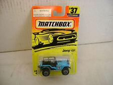 1993 MATCHBOX SUPERFAST #37 BLUE JEEP 4X4 COOL MUD NEW MOC