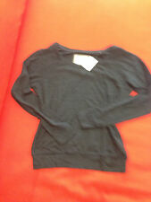 Abercrombie & Fitch Women Sweater Sz M Dark Gray Crew Neck Light Weight New