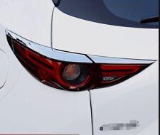 4PCS Chrome ABS Tail Light Lamp Edge Trim Cover Stripe For Mazda CX-5 2017-2018