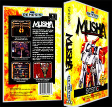 Musha - Sega Genesis Reproduction Art Case/Box No Game.